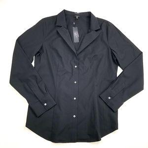 Talbots |Wrinkle Resistant Button Down Shirt Black
